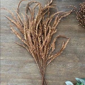 Qty 7 copper gold floral branches